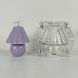 Cute Candle Making Mold Small Table Lamp Shaped Plastic Mould for Soap Chocolate