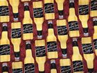 Coors Beer Miller's 100% Cotton Fabric 1/4 YARD X 44 Inches (9inches X 44 Inches