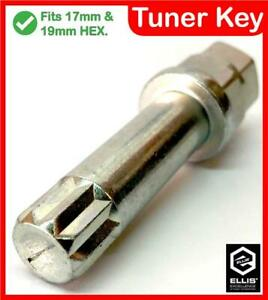 Tuner Key Alloy Wheel Bolt Nut Removal. 10 Point Star Drive Tool. VW Polo