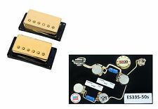 Duncan SH-1 '59 Vintage Blues Humbucker Guitar Pickup Set Gold+Gibson Harness
