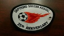 Vintage Deptford Association New Jersey Soccer Patch sew on 25th Anniversary