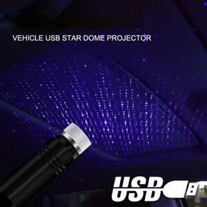 USB Luminous car Roof Night Lights Projector Interior Ambient Atmosphere Galaxy