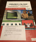 """Privacy Filter for Notebook and LCD Monitors 19"""" 16:10 Aspect Ratio. New"""
