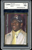 2001 Ladainian Tomlinson Sports Card Investor SCI Gold rookie gem mint 10