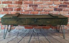 Industrial Wood Coffee Table or TV Stand -  Storage Box Metal Hairpin Rustic