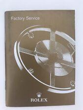 Service Manual Rolex Factory