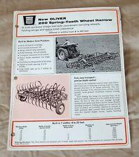 Vintage Oliver Corporation No. 200 Harrow Advertising Brochure-Ca 1966!