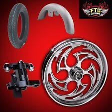 "Harley 26 inch Big Wheel Builders Kit, Wheel, Tire, Neck, & Fender  ""Predator"""