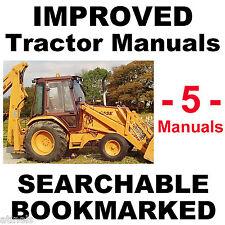 5 Service Repair Parts Instruction MANUALS Case 580 Super K Tractor TLB 580SK CD