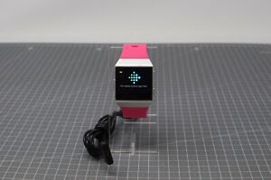 Fitbit Ionic Smart Watch - Silver Grey Pebble /Pink Strap - FIU192