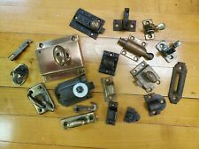 Large Lot Latches, Catches Brass. Bronze Eastlake Etc Misc Items