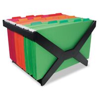 Advantus Letter/Legal Hanging File Rack Plastic 16 x 12 x 10 3/4 Black 63000