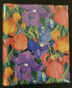 Purple & Orange, Floral Photo Album Picture Book Wedding, Baby, Family Pictures