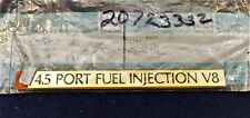 CADILLAC 4.5 PORT FUEL INJECTION V8 GOLD TRUNK EMBLEM OEM NOS #20723332