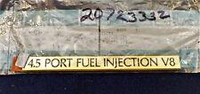 CADILLAC 4.5 PORT FUEL INJECTION V8 GOLD TRUNK EMBLEM OEM NOS #20723332