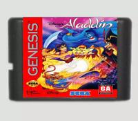 Sega Aladdin Genesis Disney S 1993 Game Complete Box Cib Manual Gear New Works