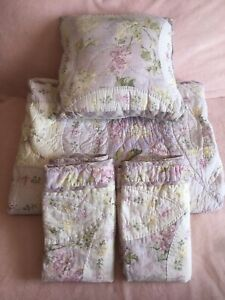 Lot 4 Rachel Ashwell Treasures Simply Shabby Chic Style Queen Quilt Shams Pillow