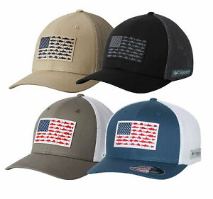 COLUMBIA PFG MESH HAT, FLEXFIT CAP, FITTED, Size S/M, L/XL, Baseball, Fish Cap