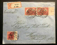 1920 Alt Ukta Olsztyn Registered Cover to Hanover Germany Plebiscite Stamp C