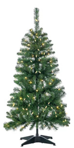 4-Foot Tall Sterling Tree Co. ~ Pre-lit Pop Up Christmas Tree NEW