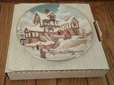 "David Winter ""#1873 Ebenezer Scrooge's Counting House Plate"" Vintage Le #396 #E"