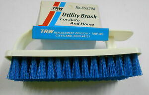 TRW Utility Brush for Auto & Home Deep Cleaning Scrub Brush Vinyl Upholstery NEW
