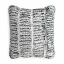 Hudson Park Collection Sculpted Faux Fur 20 x 20 TWO Decorative Pillows Charcoal