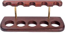 More details for dr. watson - wooden tobacco pipe stand - arch v - for 5 tobacco smoking pipes