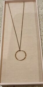 By Charlotte Rose Gold Circle Necklace NIB RRP $155