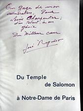 DU TEMPLE DE SALOMON A NOTRE DAME DE PARIS - PAR JOSE NOGUERO