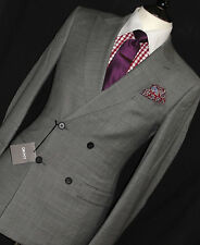 BNWT LUXURY MENS  DKNY DONNA KARAN NEW YORK 1940S INSPIRED GREY SUIT 38R W32