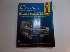1969-91 HAYNES FORD FULL SIZE VANS REPAIR MANUAL 70 71 72 73 74 75 79 81 83 85