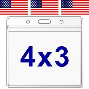"5 Pack WATERPROOF 4x3"" Vaccine Card Holder ZIP Sleeve Vaccination ID Protector"