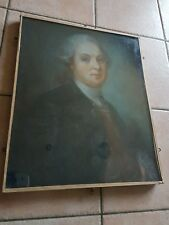 Tableau Ancien Pastel Portrait homme De Qualité  XIXeme exposition versailles