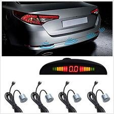 Silver Car SUV Parking 4 Sensors Reverse Backup Radar System Human Voice Alert