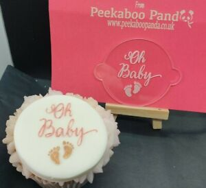 Oh Baby with feet Cookie Biscuit 3D Embosser Outbosser Deboss Stamp Fondant Cake