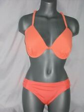 Swimsuit Size Medium Bottom D/DD Top Mossimo  Florescent Orange   New