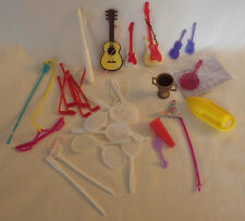 "33 Barbie ? Sports Items Tennis Racket Guitar Girls Doll Pretend Play 1"" - 4"""