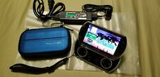 PSP Go Black 16GB+128GB Memory w/ Cable & Clear Stand+BLUE Case (SUPER RARE)