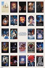 (LAMINATED) STAR WARS ONE SHEET COLLAGE POSTER (61x91cm)  PICTURE PRINT NEW ART