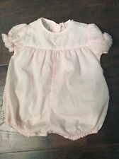 Vintage Fawn Togs Baby Girl Bubble Suit Pink Size M