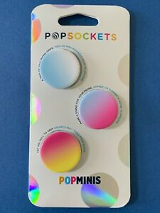 🌈🌈🌈Popsockets Popminis—Rainbow—(3) Miniature Phone Holders/Grips & Stands