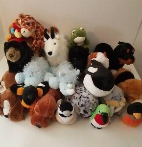 Lot Of 20 Lil'Kinz Webkinz Plush Toy Stuffed Animals No Codes GANZ beagle turkey