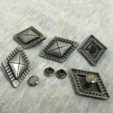 Pkg of 5 DIAMOND SHAPED Metal Rivet Studs 1