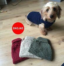 DACJAC Miniature Dachshund Dog Jumper Coat [Handmade in the UK | 100% Aran Yarn]
