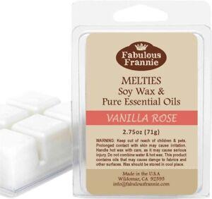 VANILLA ROSE 2.75oz Pure & Natural Soy Candle Meltie/Tart/Melts Fabulous Frannie