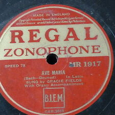 78 RPM Gracie campi Ave Maria/TRE VERDE COFANI