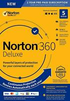 Norton 360 Deluxe 2021 / 5 Devices / 1 Year / VPN / 50 GB Cloud Backup