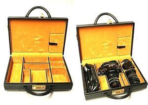 FOTOCAMERA  VINTAGE CANON A1 REFLEX 35mm SLR LENTI CUSTODIA VALIGIA RIGIDA '70