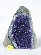 AMU149 Uruguayan Dark Purple Free Standing Amethyst Quartz Geode Crystal Gift